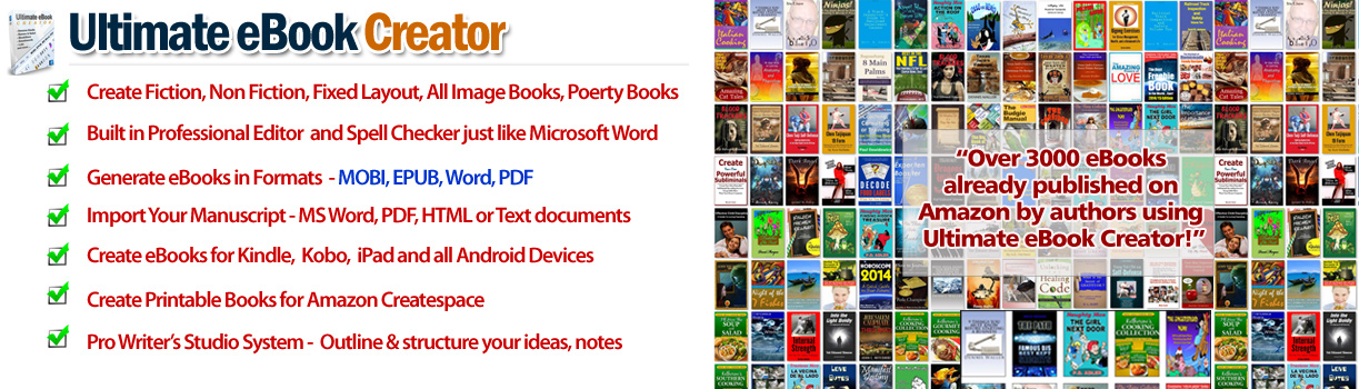 Ebook creator software ultimate ebook creator for amazon kindle fandeluxe Image collections